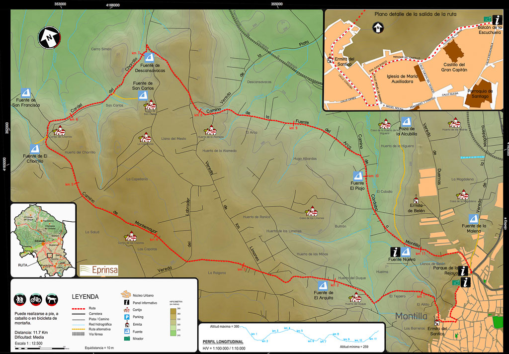 Ruta bici fuentes montilla córdoba