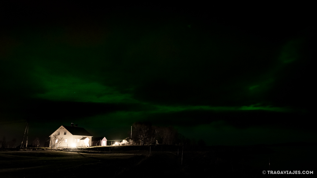 sensación ver aurora boreal