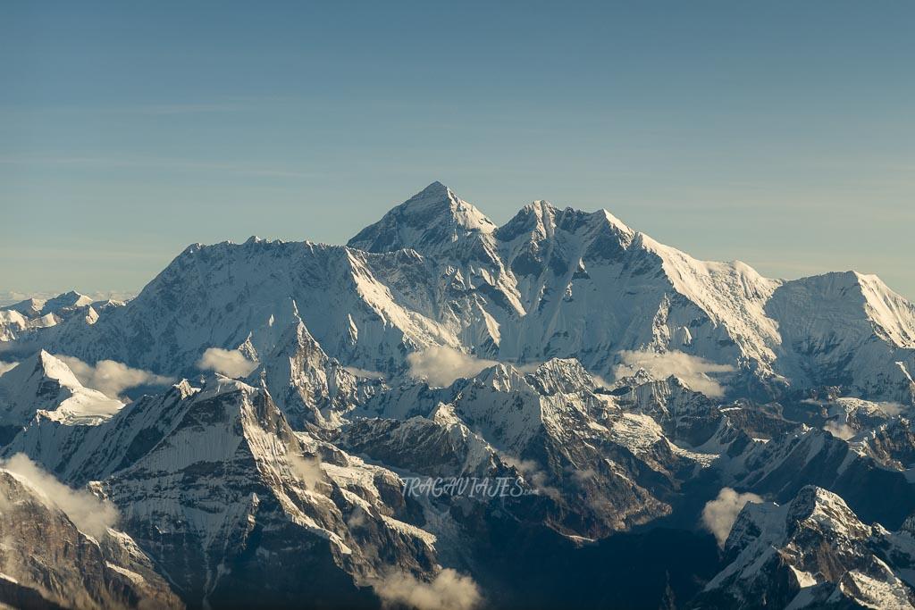 Trekking al campo base del Everest - Vista del Everest desde el avión