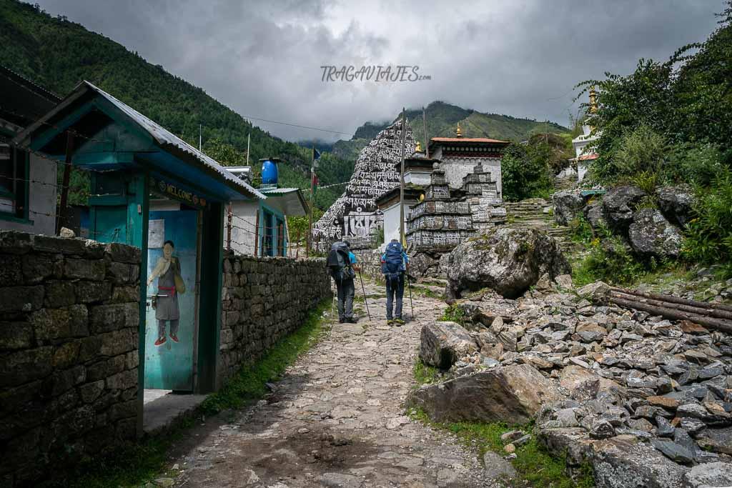 Trekking al campo base del Everest - Mantras tallados en la roca