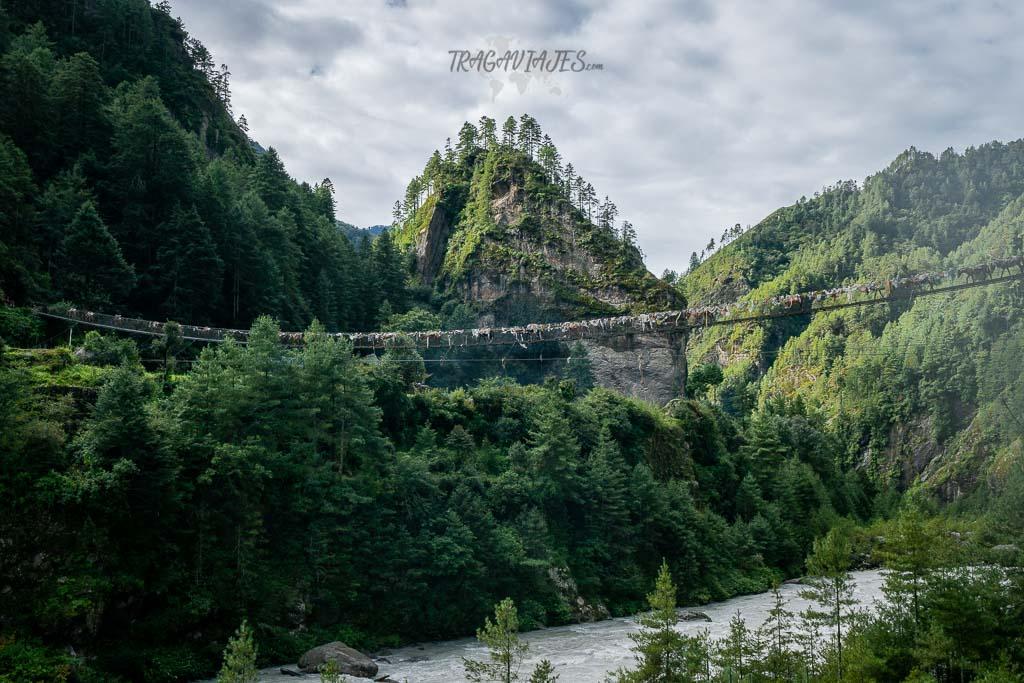 Trekking al campo base del Everest - Puente colgante