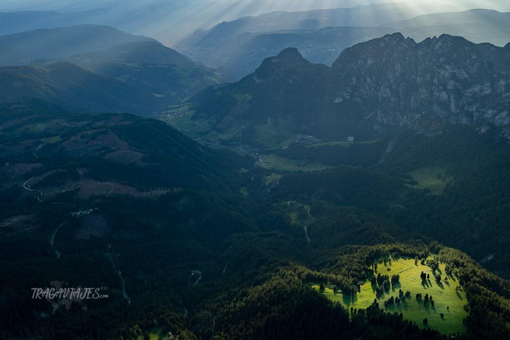 trekking torres vajolet dolomitas - Atardecer desde el refugio Santner