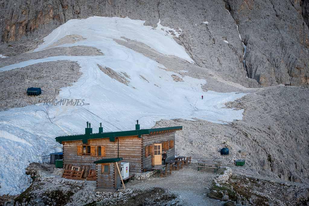 Cómo llegar a las Torres de Vajolet en los Dolomitas - Refugio Santner
