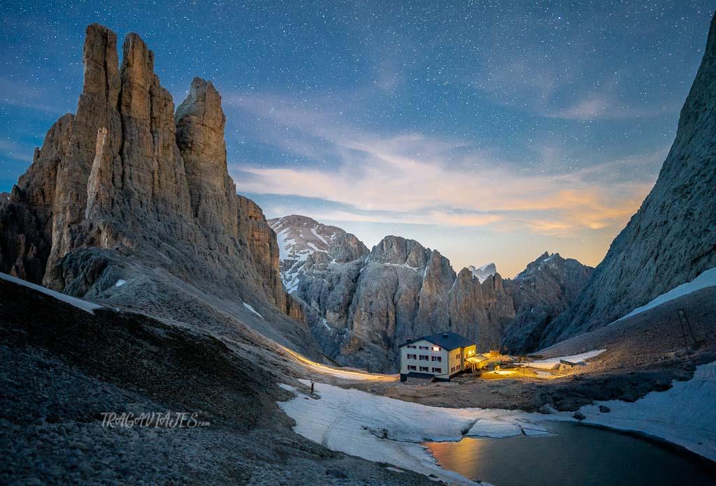 Ruta a las Torres Vajolet en los Dolomitas