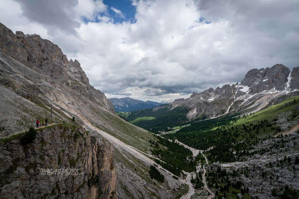 trekking torres vajolet dolomitas - Vista desde refugio Preuss