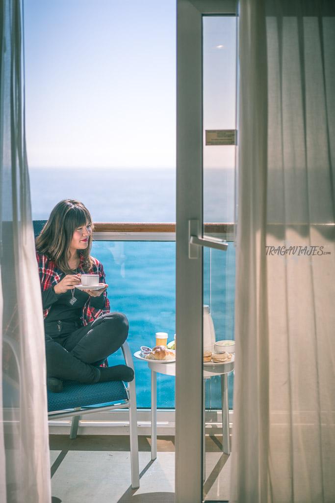 Desayunar durante un viaje en crucero