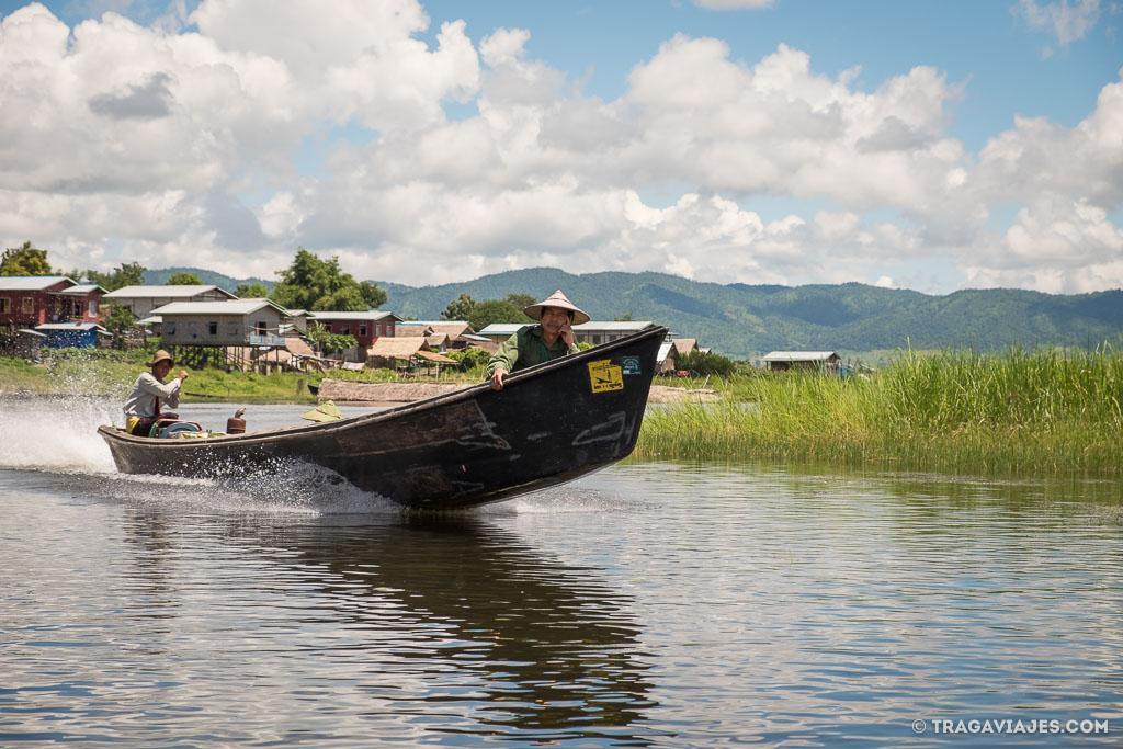 Viaje en bote de Pekon a Inle myanmar birmania